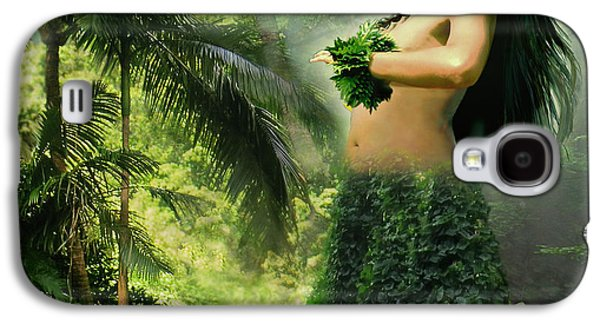 Photo Manipulation Paintings Galaxy S4 Cases - Princes of the Hawaiian Forest Galaxy S4 Case by Gina Femrite