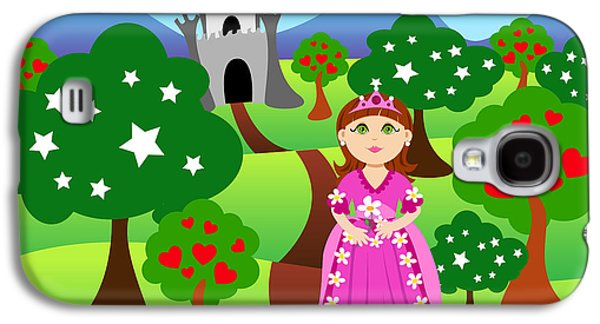 Princess And Castle Landscape Galaxy S4 Case by Sylvie Bouchard