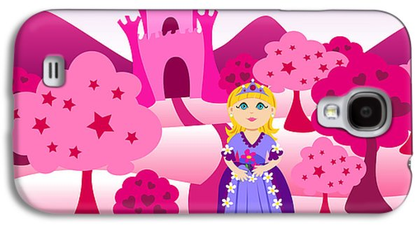 Princess And Pink Castle Landscape Galaxy S4 Case by Sylvie Bouchard