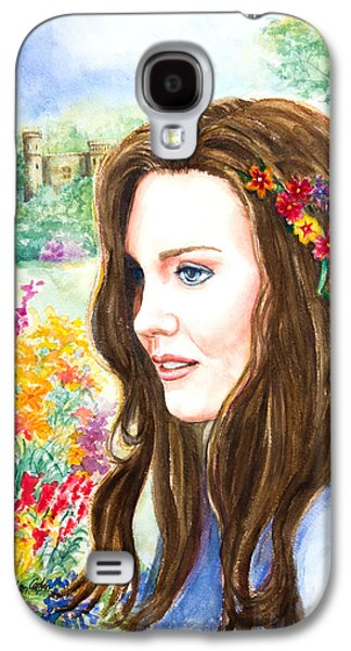 Kate Middleton Paintings Galaxy S4 Cases - Princess Kate Galaxy S4 Case by Patricia Allingham Carlson