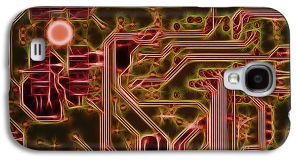Component Galaxy S4 Cases - Printed Circuit - Motherboard Galaxy S4 Case by Michal Boubin