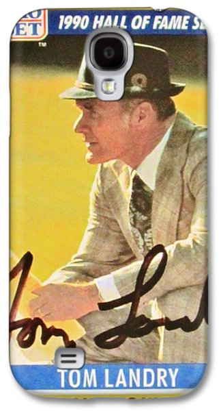 Autographed Art Galaxy S4 Cases - Pro Football Coach Tom Landry Galaxy S4 Case by Donna Wilson