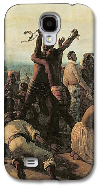 Proclamation Of The Abolition Of Slavery In The French Colonies, 23rd April 1848 Galaxy S4 Case by Francois Auguste Biard