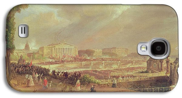 Crowds Galaxy S4 Cases - Proclamation Of The Second French Republic, Place De La Concorde, February 24, 1848 Oil On Canvas Galaxy S4 Case by Jean-Jacques Champin