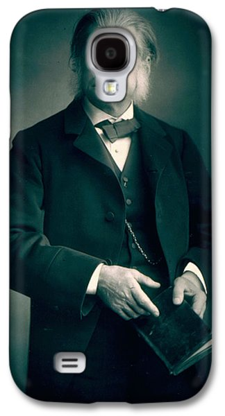 Historical Figures Galaxy S4 Cases - Professor Thomas H Huxley Galaxy S4 Case by Stanislaus Walery