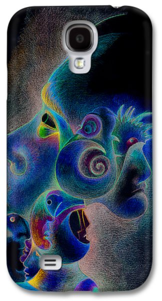 Trippy Drawings Galaxy S4 Cases - Profile Galaxy S4 Case by Bodhi