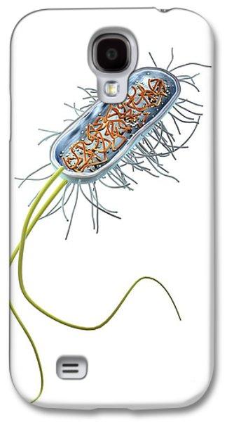 Prokaryote Galaxy S4 Cases - Prokaryote Cell, Artwork Galaxy S4 Case by Gunilla Elam