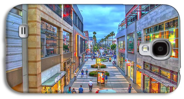 California Tourist Spots Galaxy S4 Cases - Promenade at Dusk Galaxy S4 Case by Charles Staley
