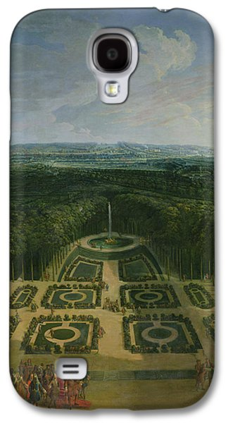 Garden Scene Galaxy S4 Cases - Promenade Of Louis Xiv 1638-1715 In The Gardens Of The Grand Trianon, 1713 Oil On Canvas Galaxy S4 Case by Charles Chastelain