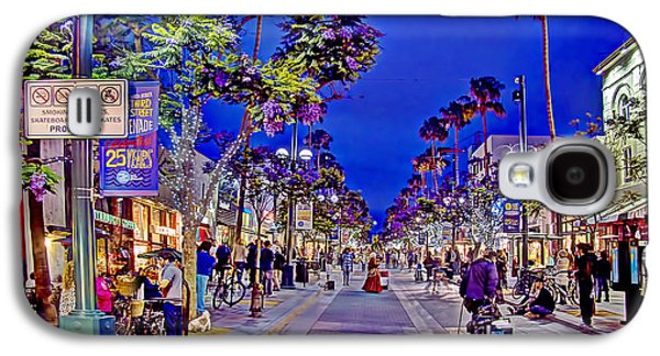 California Tourist Spots Galaxy S4 Cases - Promenade Street Performance Galaxy S4 Case by Charles Staley