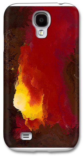 Beige Abstract Galaxy S4 Cases - Promised Spirit Galaxy S4 Case by Craig Tinder