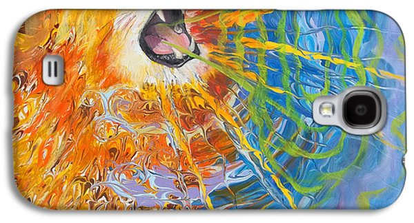 Thunder Paintings Galaxy S4 Cases - Prophetic Sketch Painting 25 Lion of Judah awakens with a ROAR Galaxy S4 Case by Anne Cameron Cutri