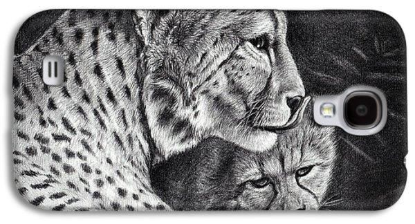 Cheetah Drawings Galaxy S4 Cases - Protect Galaxy S4 Case by Heidi  Kriel