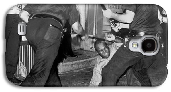 Protester Clubbed In Harlem Galaxy S4 Case by Underwood Archives