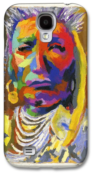Tribe Paintings Galaxy S4 Cases - Proud Native American Galaxy S4 Case by Stephen Anderson