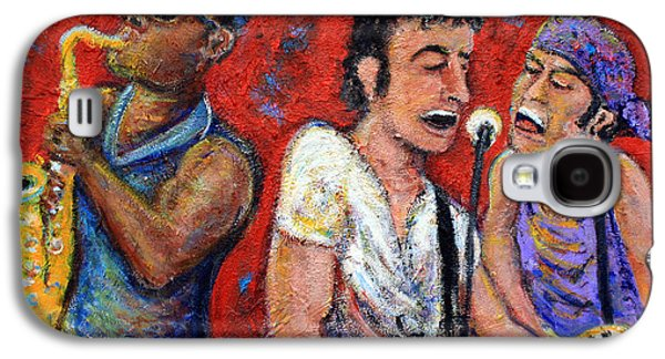 Rock N Roll Paintings Galaxy S4 Cases - Prove It All Night Bruce Springsteen and The E Street Band Galaxy S4 Case by Jason Gluskin