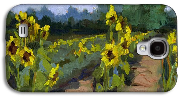 Sunflower Field Galaxy S4 Cases - Provence Sunflower Field Galaxy S4 Case by Diane McClary