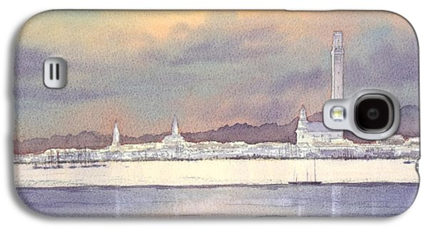Lesbian Paintings Galaxy S4 Cases - Provincetown Evening Lights Galaxy S4 Case by Bill Holkham