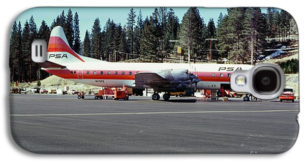 Psa Lockheed L188c Electra   N171p Cindy Lake Tahoe Airport Galaxy S4 Case by Wernher Krutein