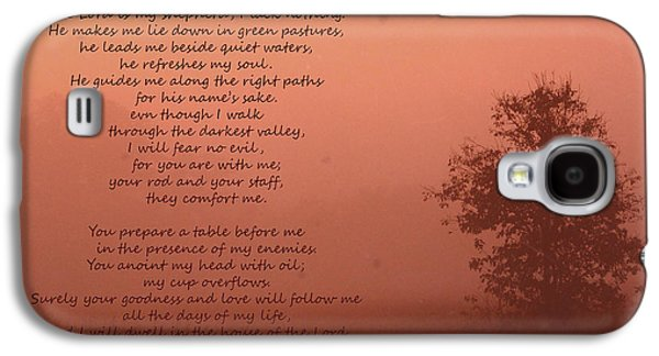 Filmstrip Galaxy S4 Cases - Psalm 23 Galaxy S4 Case by Karen Beasley