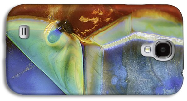 Blue Abstracts Glass Galaxy S4 Cases - Psychadelic Butterfly Galaxy S4 Case by Omaste Witkowski