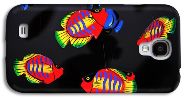Wooden Fish Galaxy S4 Cases - Psychedelic Flying Fish Galaxy S4 Case by Kaye Menner