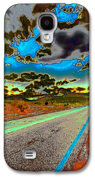 Surreal Landscape Galaxy S4 Cases - Psychedelic Highway Galaxy S4 Case by David Patterson