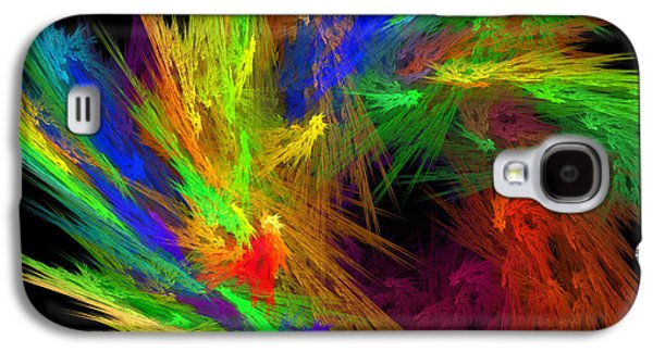 Round Galaxy S4 Cases - Psychedelic Spiral Vortex Fractal Flame Galaxy S4 Case by Keith Webber Jr