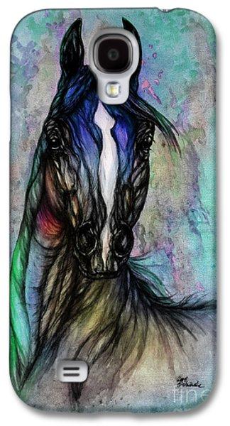 Aquatic Drawings Galaxy S4 Cases - Psychodelic Blue And Green Galaxy S4 Case by Angel  Tarantella