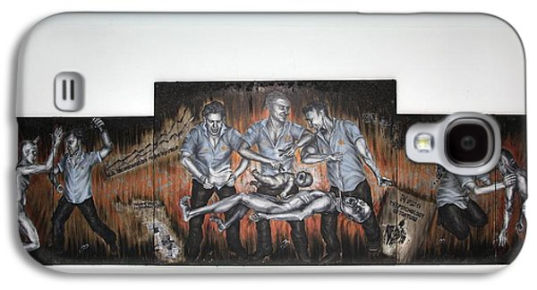 Police Art Paintings Galaxy S4 Cases - Psychology of Torture Oil Painting By Marta Sytniewski Chicago Police Torture Jon Burge Chicago Art Galaxy S4 Case by Marta Sytniewski