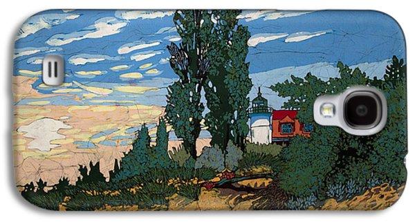 Light Tapestries - Textiles Galaxy S4 Cases - Pt. Betsie Light House Galaxy S4 Case by Terri Haugen