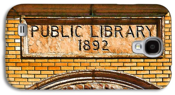 Photo Manipulation Galaxy S4 Cases - Public Library 1892 - 3 Galaxy S4 Case by Bill Caldwell -        ABeautifulSky Photography