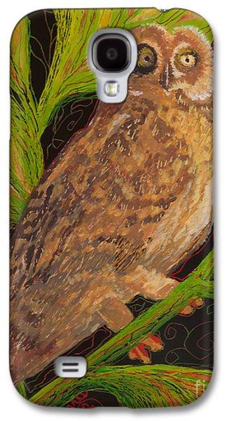 Fauna Glass Galaxy S4 Cases - Pueo Galaxy S4 Case by Anna Skaradzinska