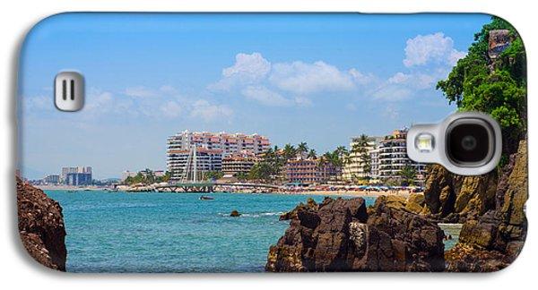 Beach Chair Galaxy S4 Cases - Puerto Vallarta Galaxy S4 Case by Aged Pixel