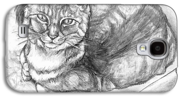 Lounge Drawings Galaxy S4 Cases - Puff Galaxy S4 Case by Shana Rowe
