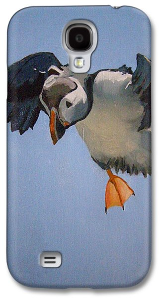 Puffin Landing Galaxy S4 Case by Eric Burgess-Ray