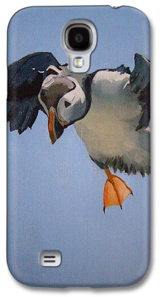 Occupy Beijing Galaxy S4 Cases - Puffin Landing Galaxy S4 Case by Eric Burgess-Ray