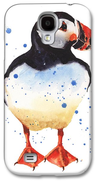 Seabirds Galaxy S4 Cases - Puffin Watercolor Galaxy S4 Case by Alison Fennell