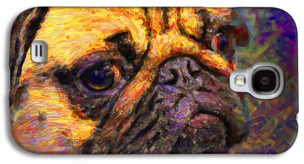 Puppy Digital Art Galaxy S4 Cases - Pug 20130126v1 Galaxy S4 Case by Wingsdomain Art and Photography