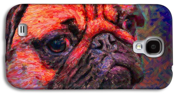 Puppy Digital Art Galaxy S4 Cases - Pug 20130126v2 Galaxy S4 Case by Wingsdomain Art and Photography