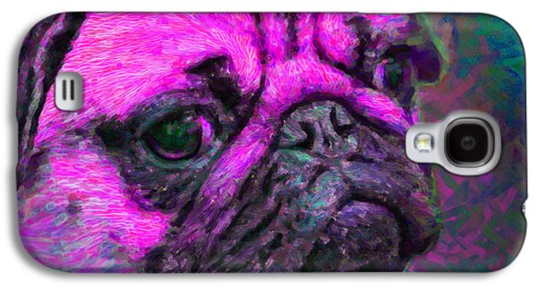 Puppy Digital Art Galaxy S4 Cases - Pug 20130126v3 Galaxy S4 Case by Wingsdomain Art and Photography