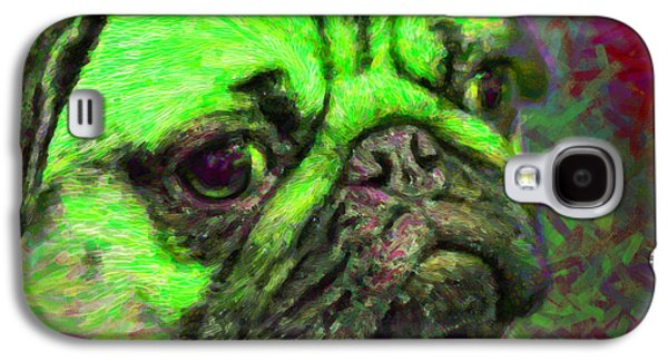 Puppy Digital Art Galaxy S4 Cases - Pug 20130126v4 Galaxy S4 Case by Wingsdomain Art and Photography