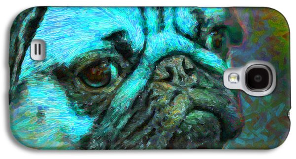 Puppy Digital Art Galaxy S4 Cases - Pug 20130126v5 Galaxy S4 Case by Wingsdomain Art and Photography