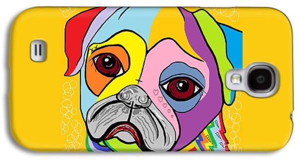 Puppy Digital Galaxy S4 Cases - Pug Galaxy S4 Case by Eloise Schneider
