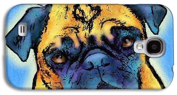 Puppy Digital Art Galaxy S4 Cases - Pug Galaxy S4 Case by Marlene Watson
