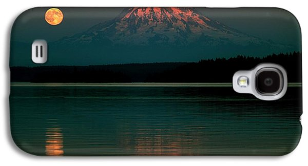 Moonscape Galaxy S4 Cases - Puget Sound Moonrise Galaxy S4 Case by Benjamin Yeager