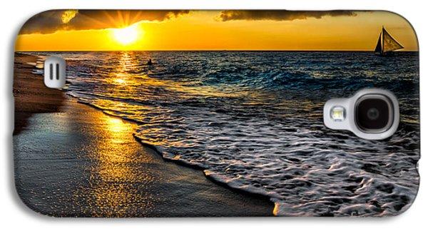 Sunsets Digital Art Galaxy S4 Cases - Puka Beach Sunset Galaxy S4 Case by Adrian Evans