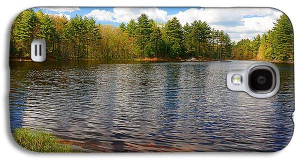 Pond In Park Galaxy S4 Cases - Pulaski Park Galaxy S4 Case by Lourry Legarde