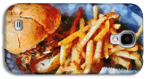 Owner Mixed Media Galaxy S4 Cases - Pulled Pork Sandwich And French Fries Galaxy S4 Case by Dan Sproul