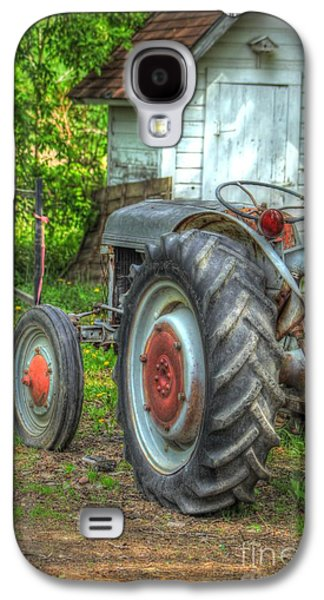 Tractor Prints Galaxy S4 Cases - Pulling the Past Galaxy S4 Case by Jimmy Ostgard